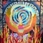 "This is a copy of Caryl Bryer Fallert piece called ""The Rise of the Phoenix"""