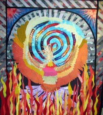 """This is a copy of Caryl Bryer Fallert piece called """"The Rise of the Phoenix"""""""