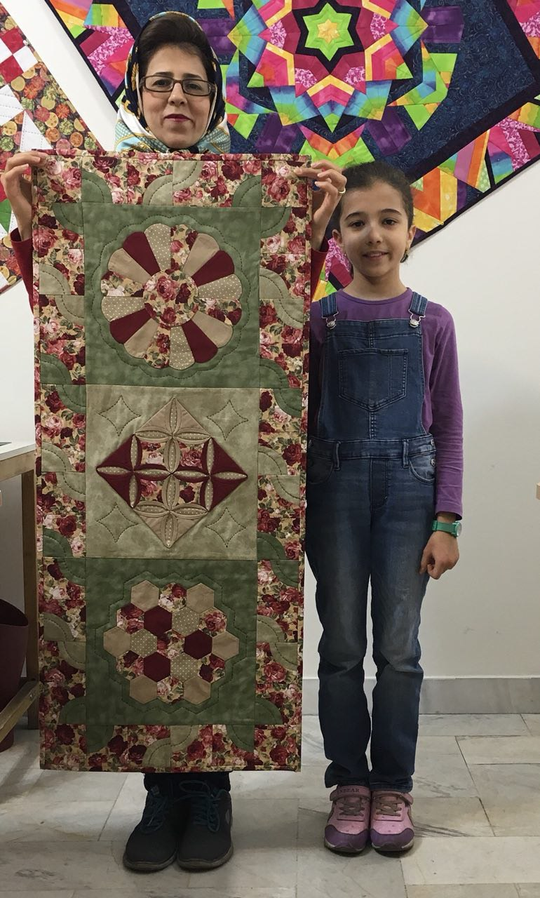 Hand patchwork and quilting by S Alizadegan