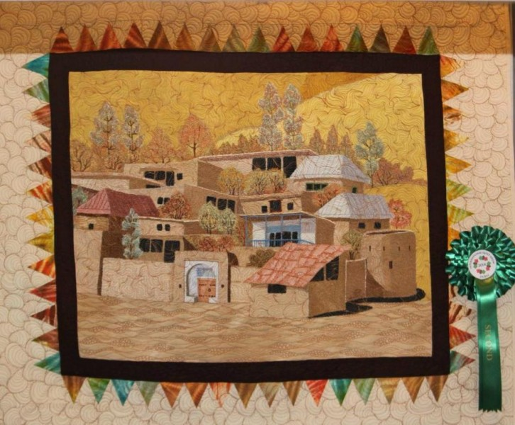 Prize Winner Dubai International Quilt Exhibition Autumn in the Desert by Simin Ahmaripour