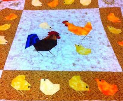 Chicks & Hens Paper Piecing