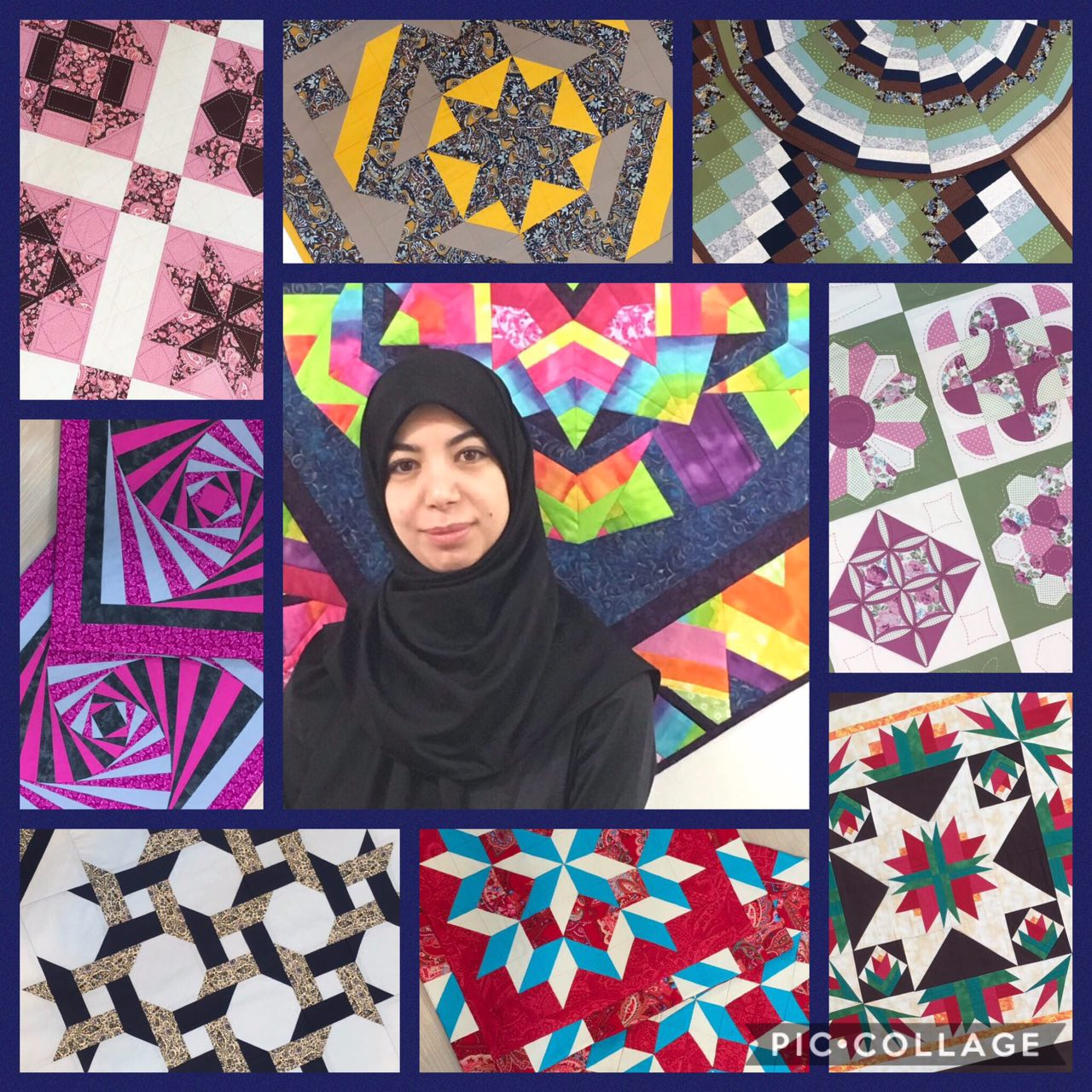 Hand patchwork and quilting,machine 1,2&3