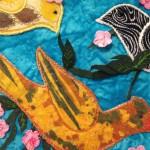 Detail of work by Fatemeh Safdari