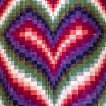 Fantasy Heart Bargello