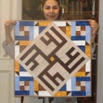Ladan Zahmadkesh Calligraphy Quilt from Classes in Winter 2014