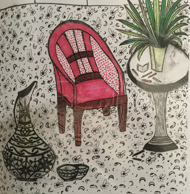 Drawing by Fatemeh Safdari