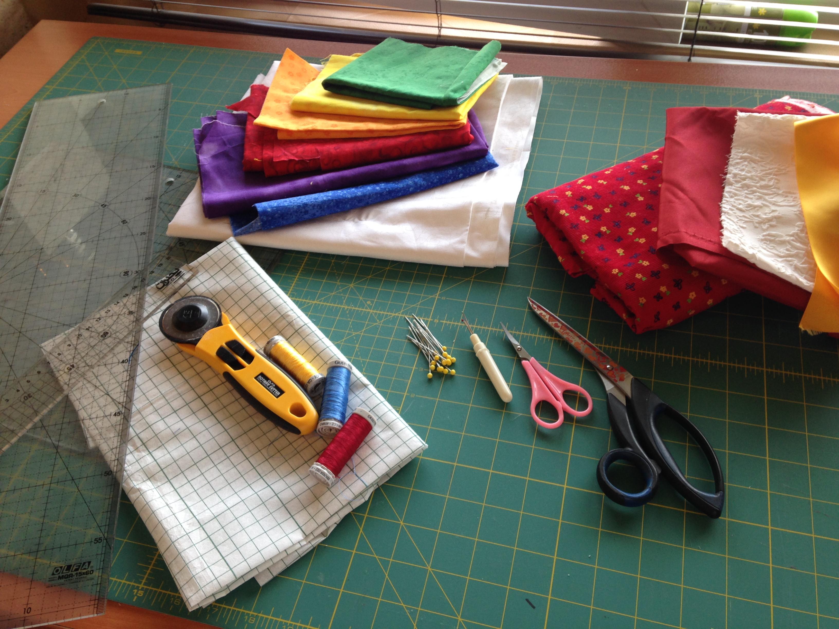 preparation of equipment and fabrics
